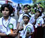 School students plant saplings in Kolkata