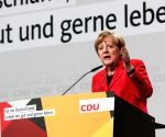 GERMANY SCHWERIN CDU MERKEL ELECTION RALLY