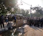 Free Photo: Security beefed up at Delhi borders , traffic diverted as Farmers march towards Delhi