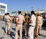 Free Security beefed up at Sadar-Palwal toll plaza ahead of KMP expressway blockade by the farmers