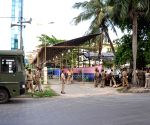 West Bengal Assembly poll counting venue - security