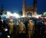 Security personnel conduct flag march ahead of Ganesh immersions