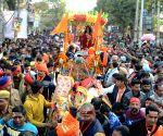Radhe Maa during a 'Shobhayatra'