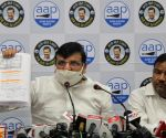 Senior AAP leader & Rajya Sabha Member Sanjay Singh addresses an important press conference about Ram Mandir Land at the party office in New Delhi