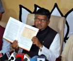 Ravi Shankar Prasad during a press conference