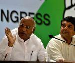 Mallikarjun Kharge, RPN Singh addressing media