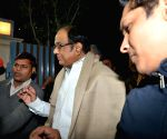 P Chidambaram walks out of Tihar jail