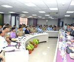 Umesh Sinha during a meeting with district collectors and Superintendents of Police