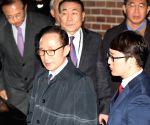 SOUTH KOREA-SEOUL-FORMER PRESIDENT-LEE MYUNG-BAK-TAKING INTO CUSTODY