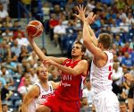 SERBIA BELGRADE BASKETBALL SERBIA VS RUSSIA
