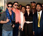 Shahrukh Khan,  Ness Wadia, Preity Zinta and Modi at IPL press meet.