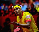 Free : Sharath off to a flying start at the WTT Contender Doha; Sathiyan bows out.