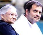 File Photo: Sheila Dikshit with Rahul Gandhi