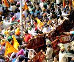 Shiromani Akali Dal demonstration against Punjab Government