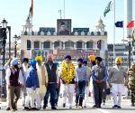 Aattri (Punjab): SGPC President returns back after attending ground breaking ceremony of Kartarpur Corridor