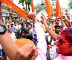Shiv Sena workers celebrate