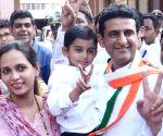 Karnataka bye-elections candidates celebrate