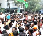 Karnataka bye-elections Congress candidate celebrates