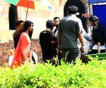 Abhishek Bachchan shoots for film at Lodhi Garden