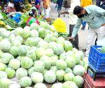 Shoppers at Yeshwanthpur Market ahead of Ayuda Pooja and Vijaya Dashami