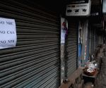 Shops closed during protest aganist NRC,CAA