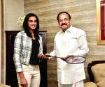 P.V. Sindhu meets Venkaiah Naidu
