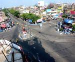 SHYAMBAZAR five points looks deserted during lockdown on Coronavirus pandemic in Kolkata.