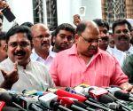 T.T.V. Dinakaran talks to the press