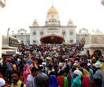 Guru Nanak Dev birth anniversary celebration at Bangla Shahib Gurdwara