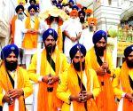 550th Birth anniversary of Guru Nanak Dev - Sikh devotees participate in 'Nagar Kirtan
