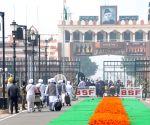 Attari (Punjab): Sikh devotees leave for Pakistan to celebrate 550th birth anniversary of Guru Nanak Dev