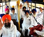 Sikh devotees leave for Pakistan to participate in 550th birth anniversary celebrations of Guru Nanak Dev