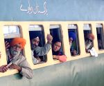 Sikh pilgrims leave for Gurdwara Nankana Sahib
