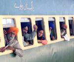 Sikh pilgrims leave for Gurdwara Nankana Sahib