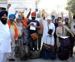 Sikh pilgrims leave for Kartarpur Sahib in Pakistan