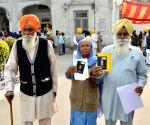 Sikh pilgrims leaving for Gurdwara Nankana Sahib in Pakistan