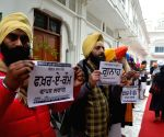 SSD demonstration outside Akal Takht Secretariat