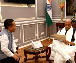 Sikkim CM Tamang meets Rajnath Singh