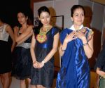 Simran Kaur Mundi and Indrani Dasgupta at designer Gaytri Khanna's fittings for LIFW.