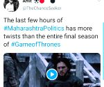 Memes compare Maharashtra politics to Game of Thrones