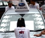 Singapore : Contestants brave the elements during the Subaru Challenge
