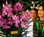 SINGAPORE-MYANMAR-AUNG SAN SUU KYI-NATIONAL ORCHID GARDEN-VISIT