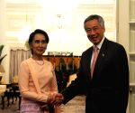 SINGAPORE-MYANMAR-AUNG SAN SUU KYI-OFFICIAL VISIT