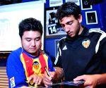 Spanish club Valencia's coach Nuno Espiritu Santo at a press meet