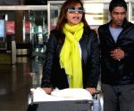 Manasi Scott arrives at Jaipur airport