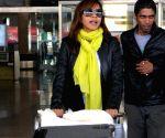 Manasi Scott arrives at Jaipur airport