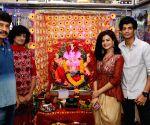 Palak Muchhal and Palash Muchhal seek blessings of Lord Ganesha