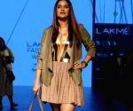 Sona Mohapatra during the Lakme Fashion Week 2017