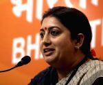 New Delhi, Jan 20 (IANS) Is Union Minister Smriti Irani BJP's 'go-to' person for countering the Congress?