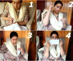 Smriti Irani makes masks herself at home with needle, thread